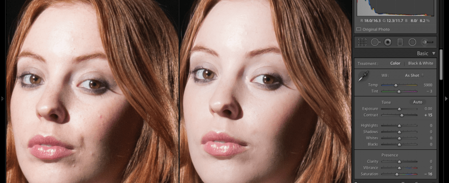 Lightroom Technique for Subtle Skin Retouching