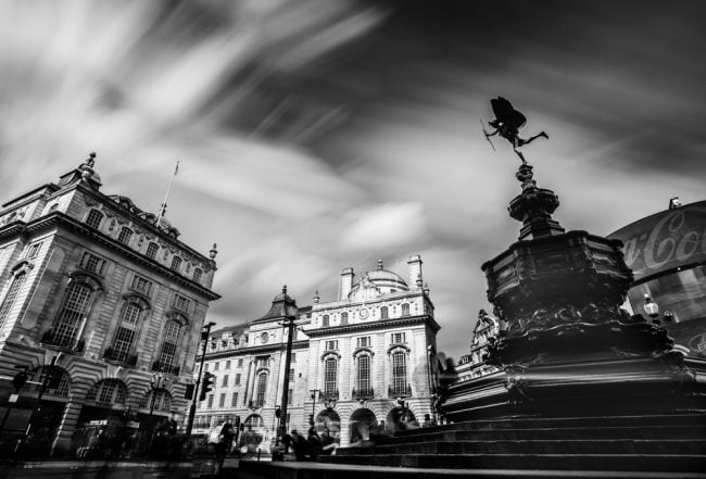 Long Exposure of Piccadilly Circus