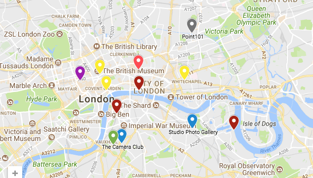 Photographers Map Of London