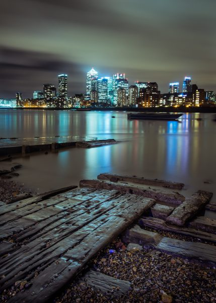 Canary Wharf Night Photography