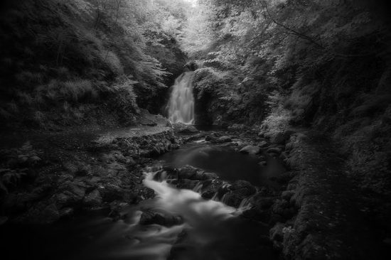 Long exposure waterfall photography